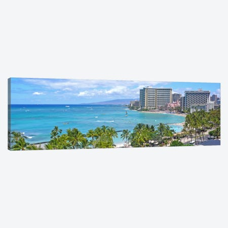 Honolulu Panoramic Skyline Cityscape Canvas Print #6074} Canvas Print