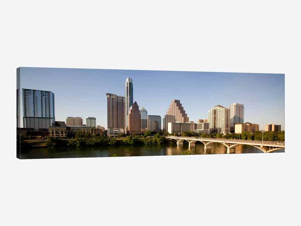 Austin Panoramic Skyline Cityscape 1-piece Canvas Wall Art