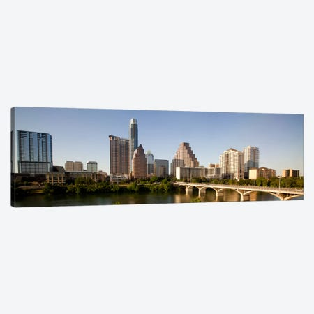 Austin Panoramic Skyline Cityscape Canvas Print #6077} by Unknown Artist Canvas Art Print
