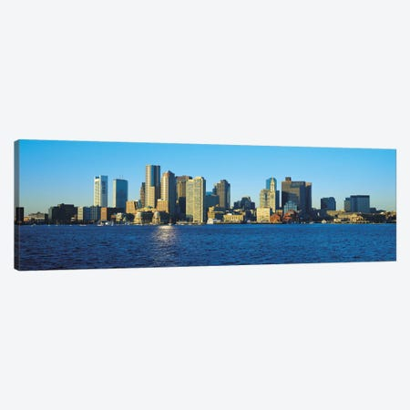 Boston Panoramic Skyline Cityscape Canvas Print #6079} by Unknown Artist Canvas Artwork