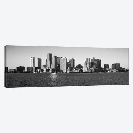 Boston Panoramic Skyline Cityscape (Black & White) Canvas Print #6080} by Unknown Artist Canvas Art Print