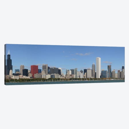 Chicago Panoramic Skyline Cityscape Canvas Print #6081} by Unknown Artist Art Print