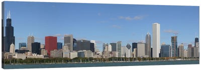 Chicago Panoramic Skyline Cityscape Canvas Art Print