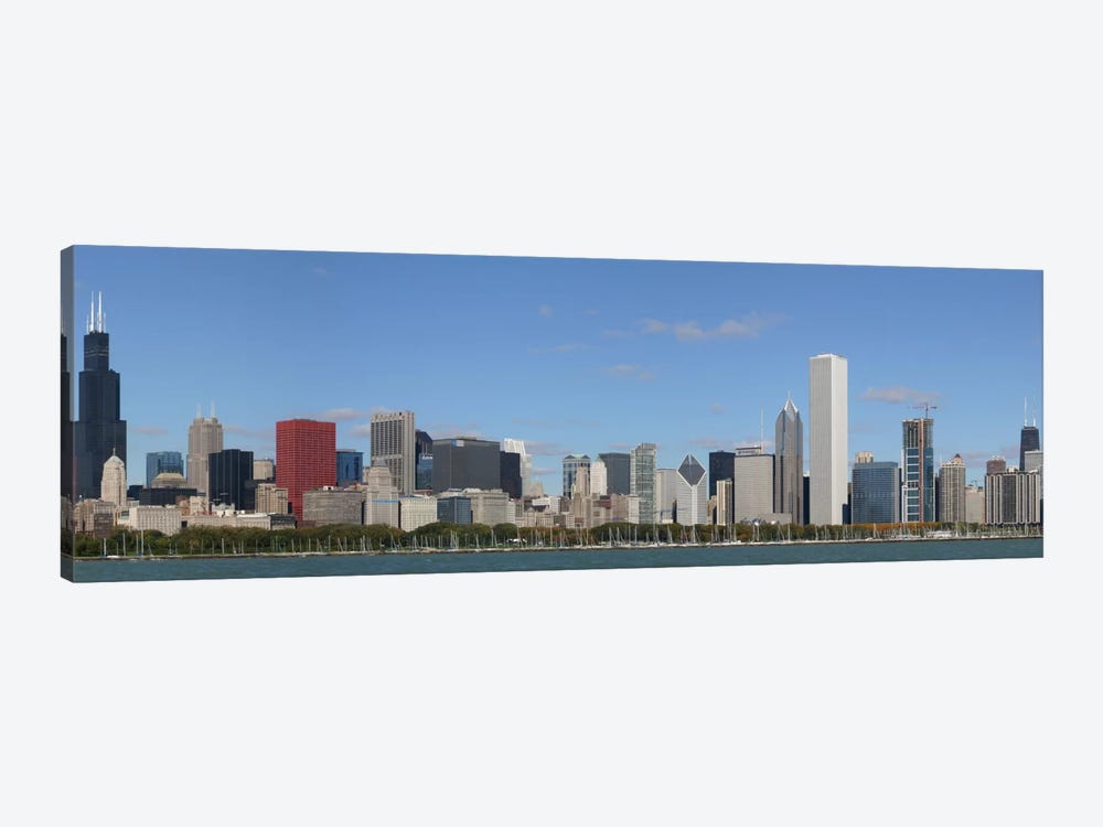 Chicago Panoramic Skyline Cityscape 1-piece Canvas Art Print