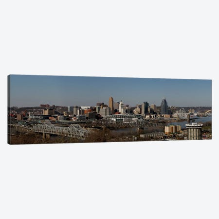 Cincinnati Panoramic Skyline Cityscape Canvas Print #6084} by Unknown Artist Canvas Wall Art