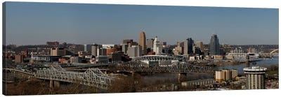 Cincinnati Panoramic Skyline Cityscape Canvas Art Print