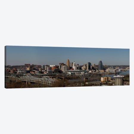 Cincinnati Panoramic Skyline Cityscape Canvas Print #6084} by Unknown Artist Canvas Wall Art