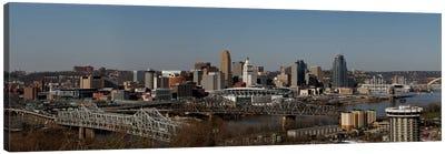 Cincinnati Panoramic Skyline Cityscape Canvas Art Print