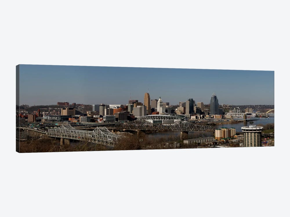 Cincinnati Panoramic Skyline Cityscape by Unknown Artist 1-piece Canvas Wall Art