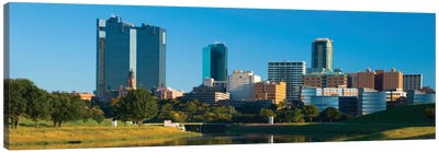 Fort Worth Panoramic Skyline Cityscape Canvas Print #6090