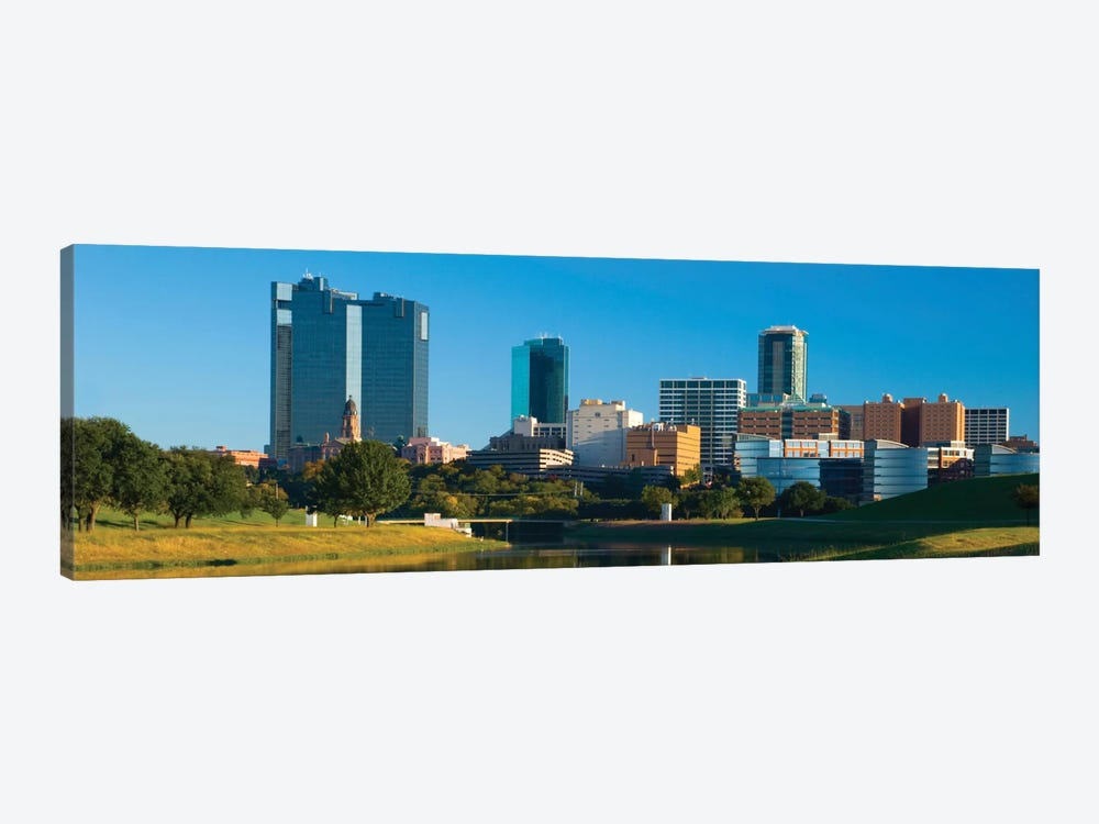 Fort Worth Panoramic Skyline Cityscape 1-piece Canvas Art Print
