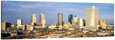 Fort Worth Panoramic Skyline Cityscape Canvas Print #6091