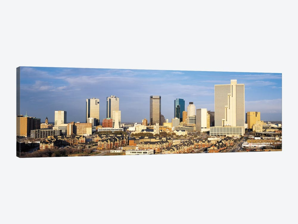 Fort Worth Panoramic Skyline Cityscape 1-piece Canvas Art