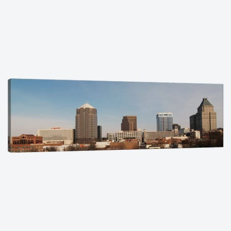 Greensbooro Panoramic Skyline Cityscape Canvas Print #6093} Canvas Art