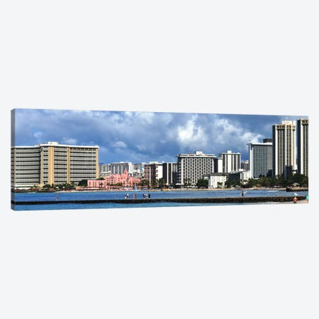 Honolulu Panoramic Skyline Cityscape Canvas Print #6094} Art Print