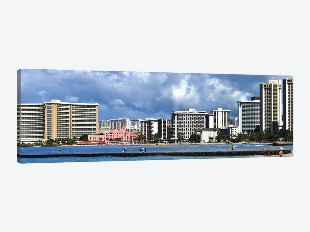 Honolulu Panoramic Skyline Cityscape by Unknown Artist 1-piece Canvas Print