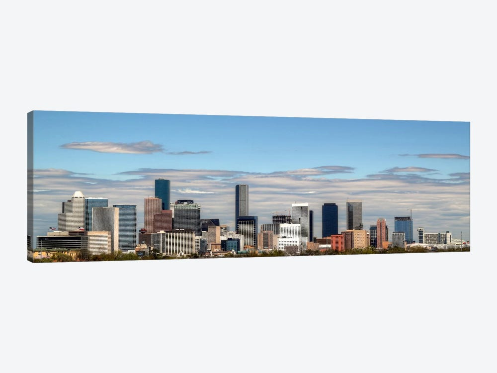 Houston Panoramic Skyline Cityscape by Unknown Artist 1-piece Art Print