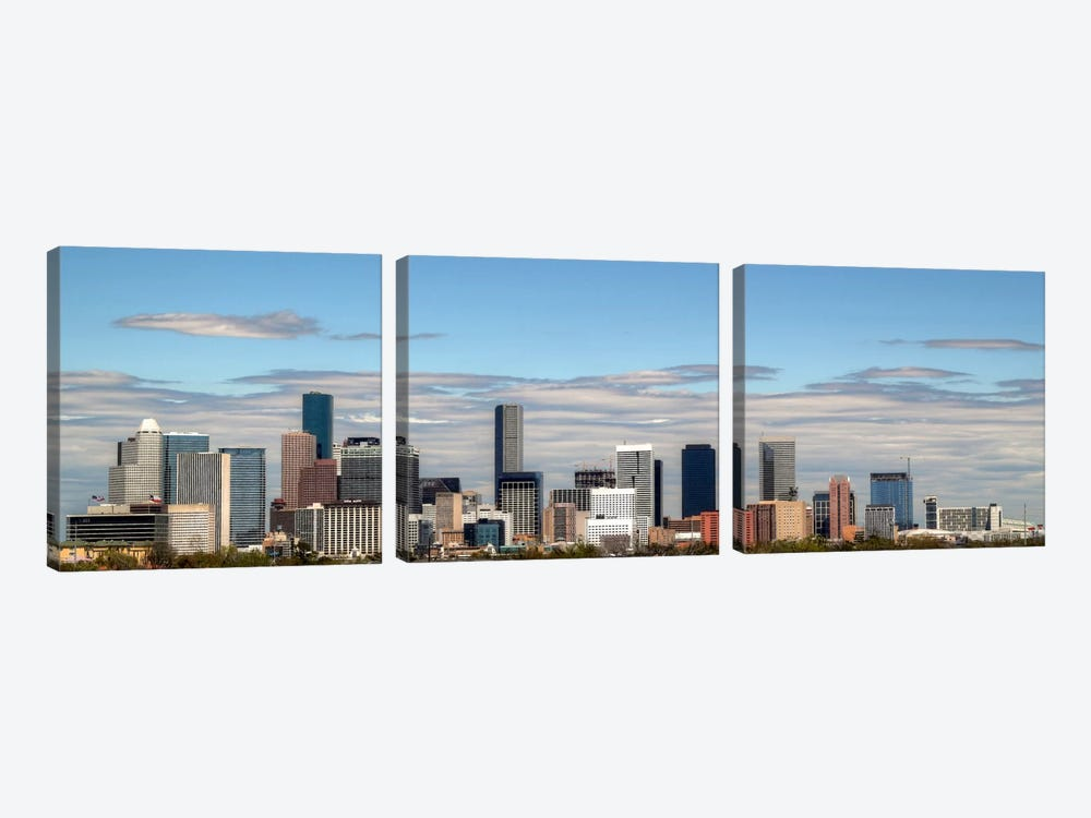 Houston Panoramic Skyline Cityscape by Unknown Artist 3-piece Art Print