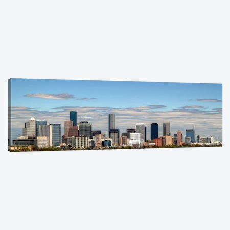 Houston Panoramic Skyline Cityscape 3-Piece Canvas #6096} by Unknown Artist Canvas Print