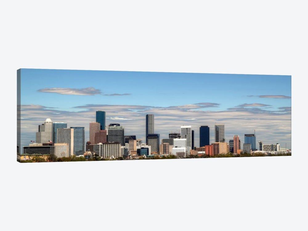 Houston Panoramic Skyline Cityscape by Unknown Artist 1-piece Art Print