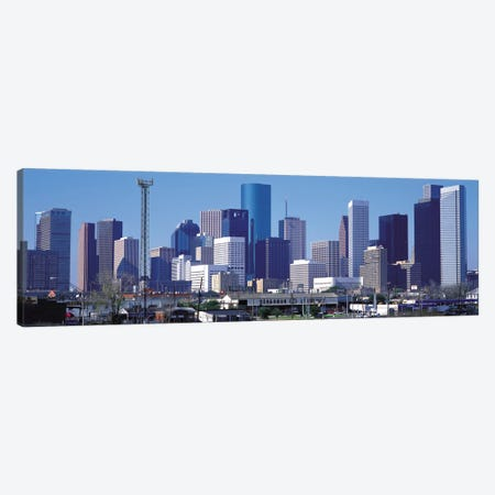 Houston Panoramic Skyline Cityscape Canvas Print #6097} Canvas Art Print