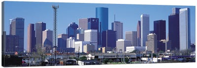 Houston Panoramic Skyline Cityscape Canvas Print #6097