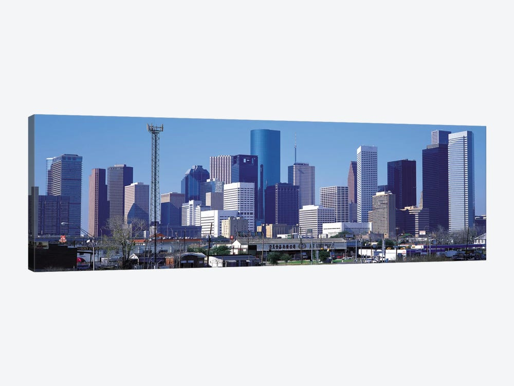 Houston Panoramic Skyline Cityscape by Unknown Artist 1-piece Canvas Art
