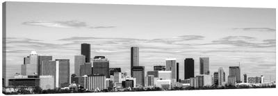 Houston Panoramic Skyline Cityscape (Black & White) Canvas Print #6098