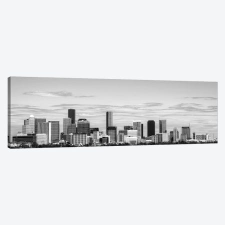 Houston Panoramic Skyline Cityscape (Black & White) Canvas Print #6098} by Unknown Artist Canvas Art