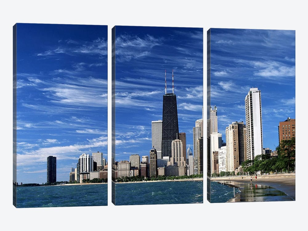Downtown Chicago 3-piece Canvas Art