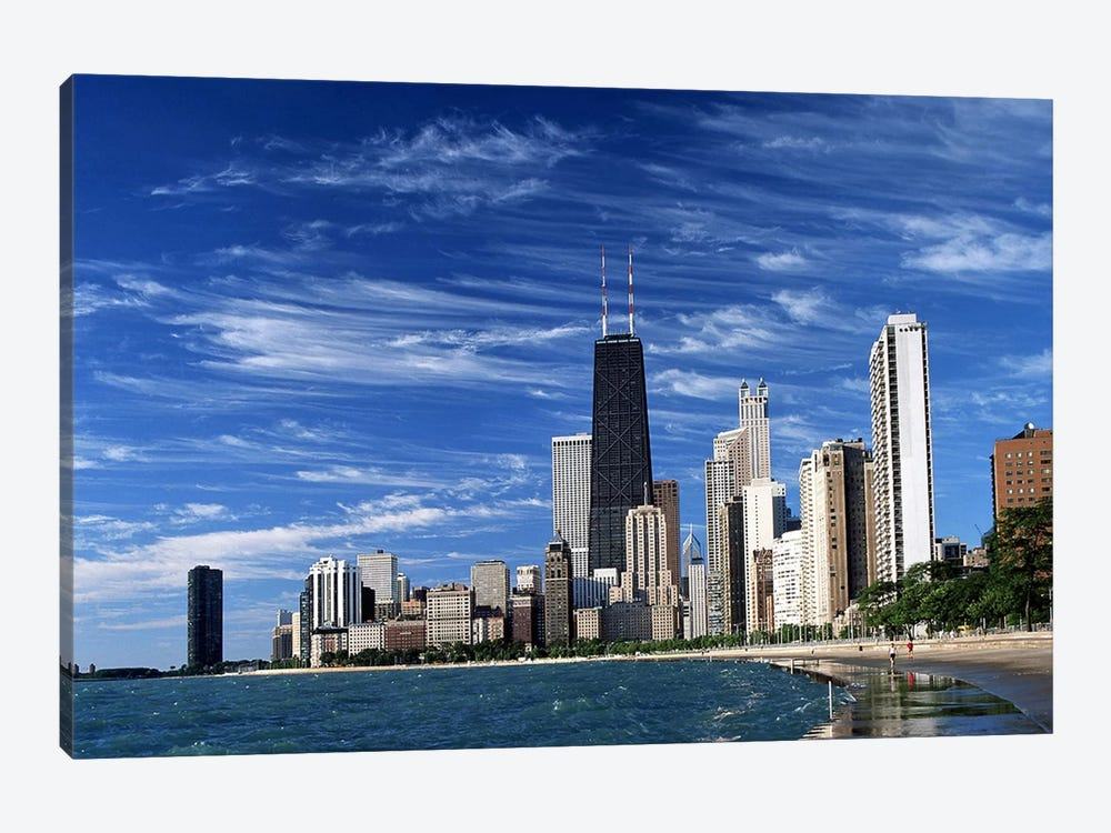 Downtown Chicago by Unknown Artist 1-piece Canvas Artwork