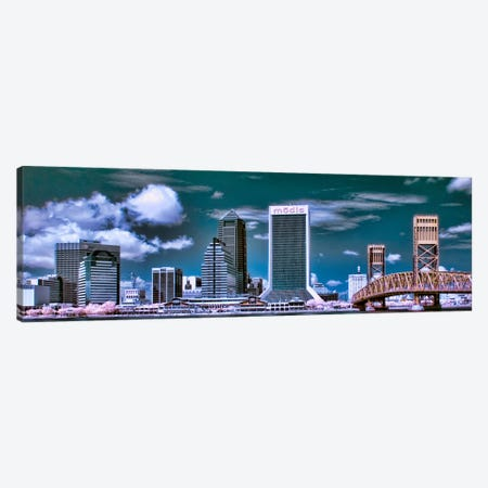 Jacksonville Panoramic Skyline Cityscape Canvas Print #6100} Canvas Artwork