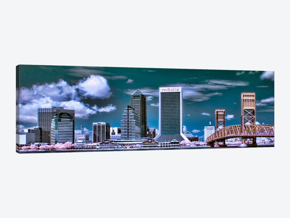 Jacksonville Panoramic Skyline Cityscape by Unknown Artist 1-piece Canvas Art Print
