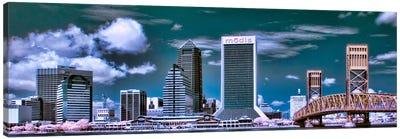 Jacksonville Panoramic Skyline Cityscape Canvas Art Print