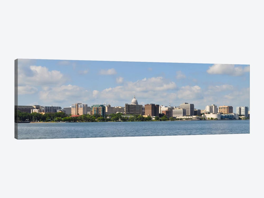 Madison Panoramic Skyline Cityscape 1-piece Canvas Wall Art