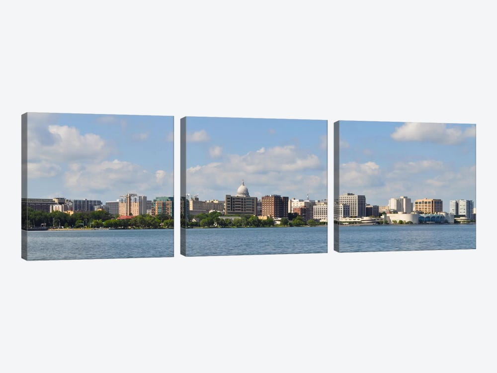 Madison Panoramic Skyline Cityscape by Unknown Artist 3-piece Canvas Wall Art