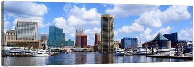 Baltimore Panoramic Skyline Cityscape Canvas Art Print