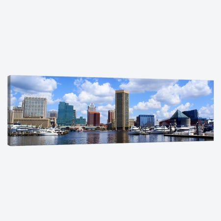 Baltimore Panoramic Skyline Cityscape Canvas Print #6105} by Unknown Artist Canvas Art Print
