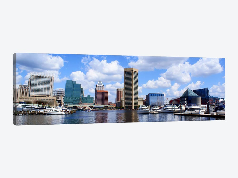 Baltimore Panoramic Skyline Cityscape by Unknown Artist 1-piece Canvas Art