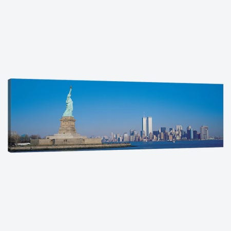New York Panoramic Skyline Cityscape Canvas Print #6108} by Unknown Artist Canvas Art