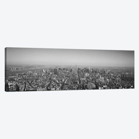 New York Panoramic Skyline Cityscape (Black & White) Canvas Print #6111} by Unknown Artist Canvas Art Print