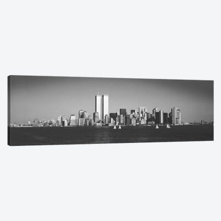 New York Panoramic Skyline Cityscape (Black & White) Canvas Print #6113} by Unknown Artist Canvas Art Print
