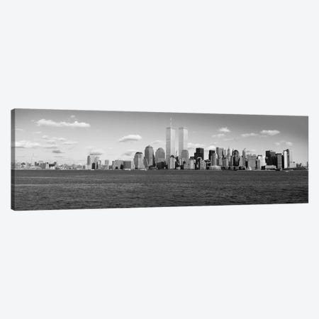 New York Panoramic Skyline Cityscape (Black & White) Canvas Print #6115} Canvas Artwork
