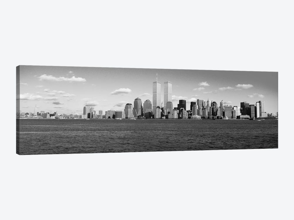 New York Panoramic Skyline Cityscape (Black & White) by Unknown Artist 1-piece Art Print