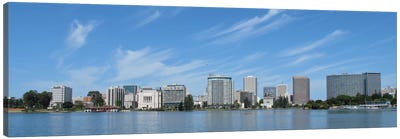 Oakland Panoramic Skyline Cityscape Canvas Art Print