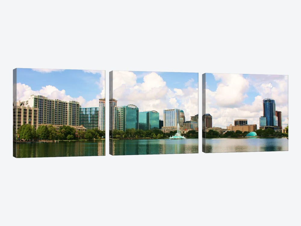 Orlando Panoramic Skyline Cityscape 3-piece Canvas Art