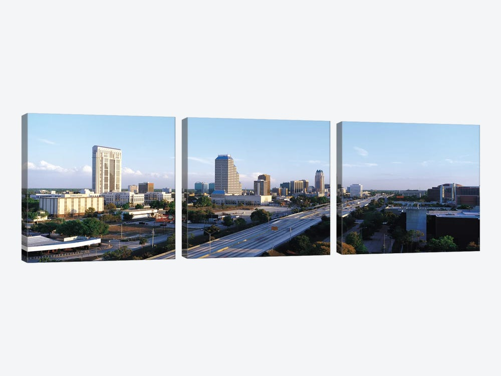 Orlando Panoramic Skyline Cityscape by Unknown Artist 3-piece Canvas Art Print