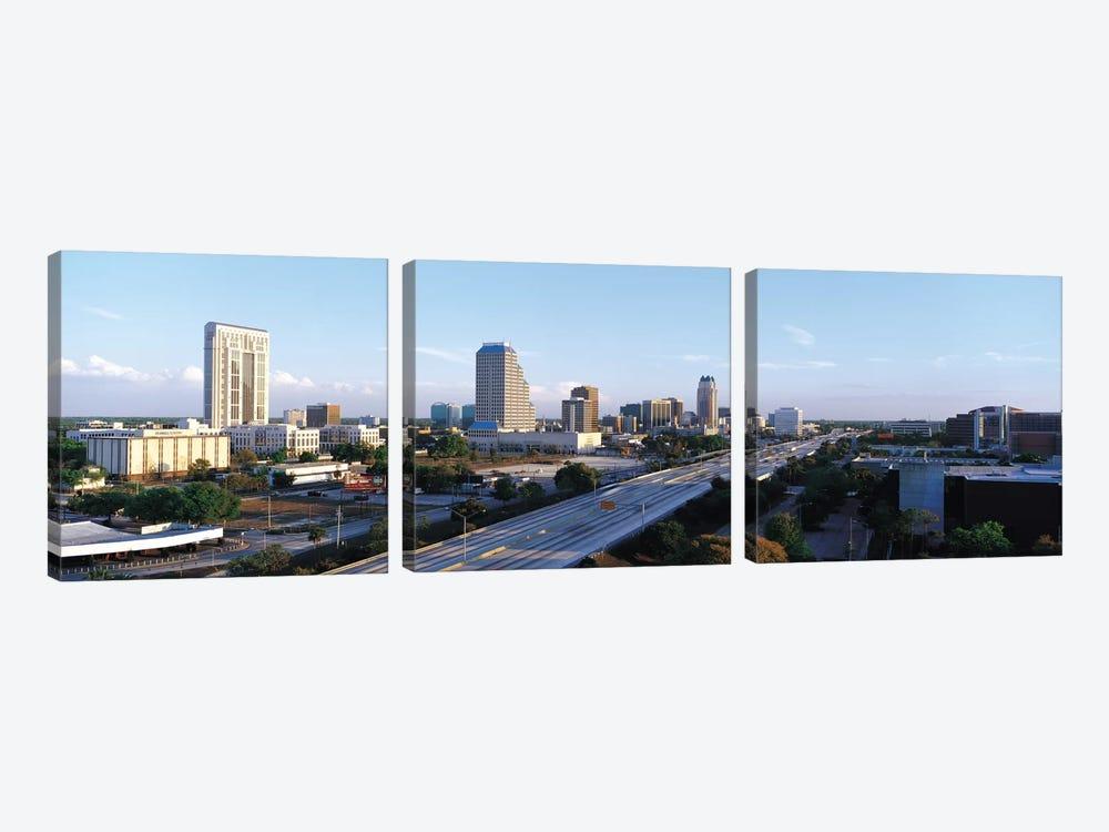 Orlando Panoramic Skyline Cityscape by Unknown Artist 3-piece Canvas Art Print