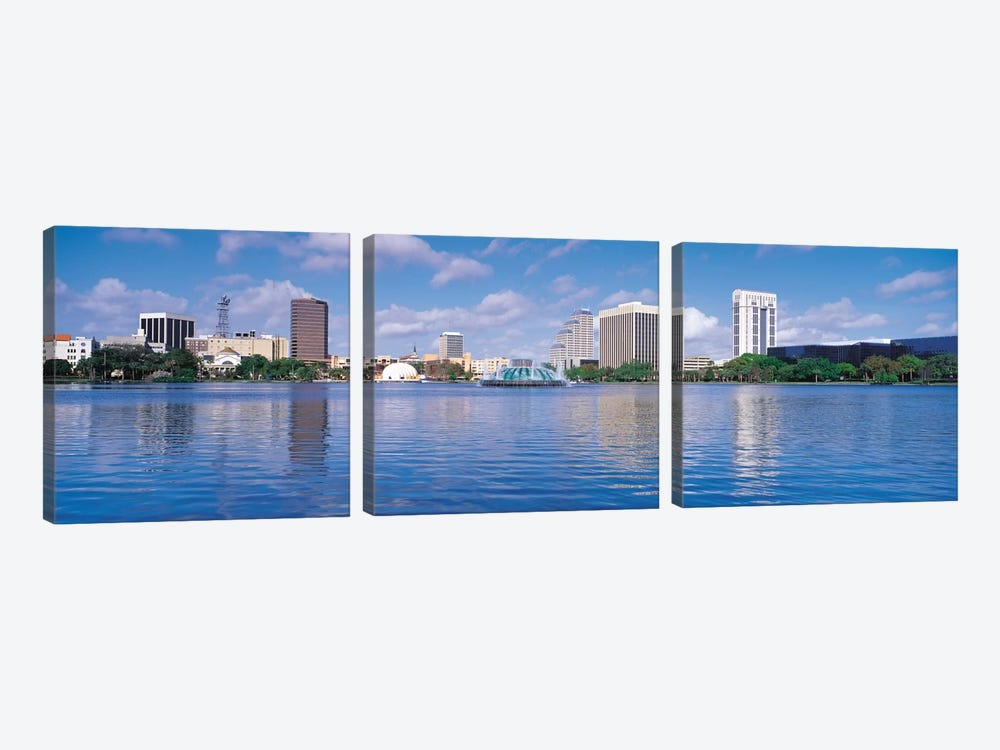 Orlando Panoramic Skyline Cityscape by Unknown Artist 3-piece Canvas Print