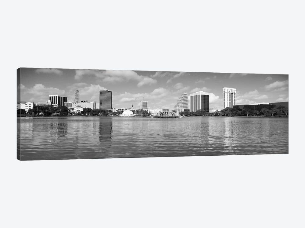 Orlando Panoramic Skyline Cityscape (Black & White) by Unknown Artist 1-piece Canvas Art